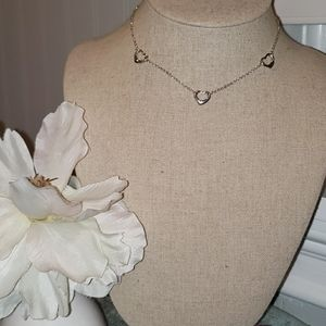 Tiffany triple heart necklace